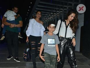 Amrita Arora with her family & Malaika Arora spotted at Hakkasan Bandra