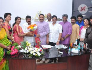 Movie Artists Association New Panel Pooja at office Photos