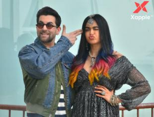 Neil Nitin Mukesh & Adah Sharma at Sun n Sand in Juhu for Bypass Road movie promotions