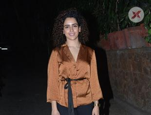 Sanya Malhotra spotted at Krome Studio Bandra - photos