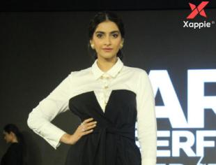 Photos of Bollywood Actress Sonam Kapoor Ahuja at the Launch of Cover Story capsule collection by Karl LAGERFELD