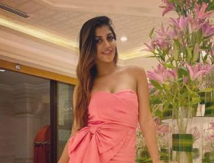 Yashika Aannand flaunts her body in pink dress - Photos