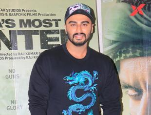 Abhishek Bachchan, Taapsee Pannu and Arjun Kapoor at the screening of India's Most Wanted
