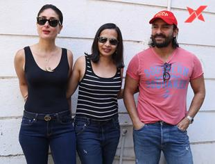 Kareena Kapoor & Saif Ali Khan at Rujuta Divekar's office for Facebook live - photos