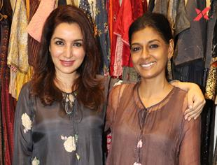 Nandita Das and Tisca Chopra at the launch of flagship store of Shades of India