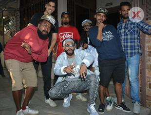 Ranveer Singh with Rappers spotted at dubbing studio in Bandra - photos