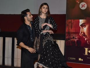 Varun Dhawan and Alia Bhatt at song launch of Kalank