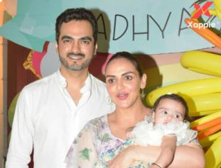 Birthday celebration photos of Esha Deol's daughter Radhya at Hema Malini's house in Juhu