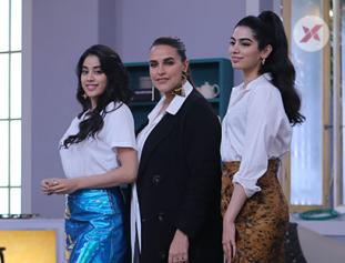 Janhvi Kapoor & Khushi Kapoor, Neha Dhupia on the sets of Vogue BFFs