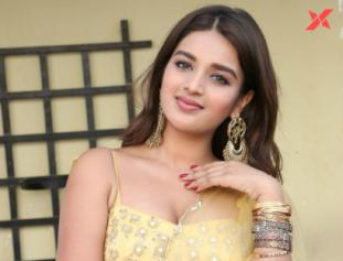 Nidhhi Agerwal at Ashok Galla Debut film announcement event - Photos