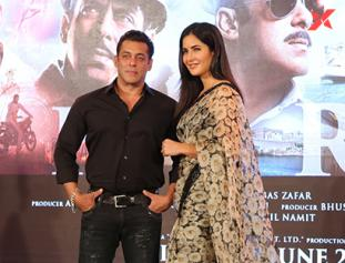 Salman Khan & Katrina Kaif at the song launch of film Bharat at Taj Lands End Bandra