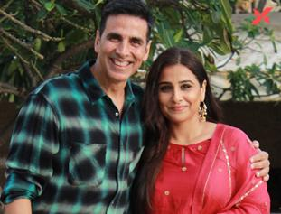 Akshay Kumar and Vidya Balan pictures from Mission Mangal movie promotions