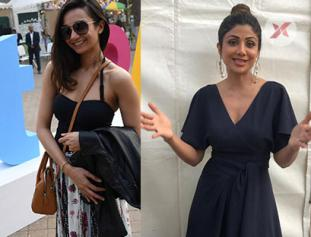Shilpa Shetty and Ira Dubey with Aditi Kapoor and Ruchi Sibal at First Edition of HT Palate Fest
