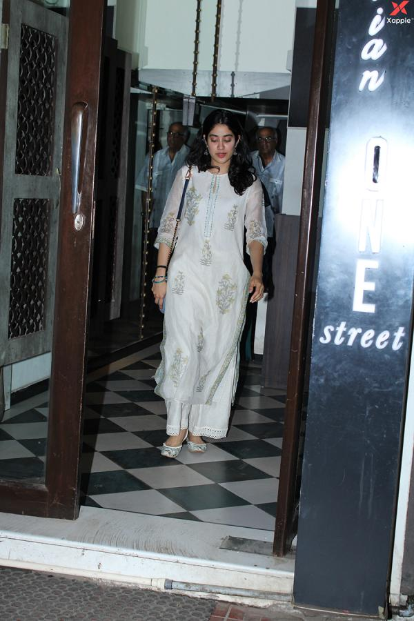 Janhvi Kapoor & Boney Kapoor spotted at Bastian in Bandra