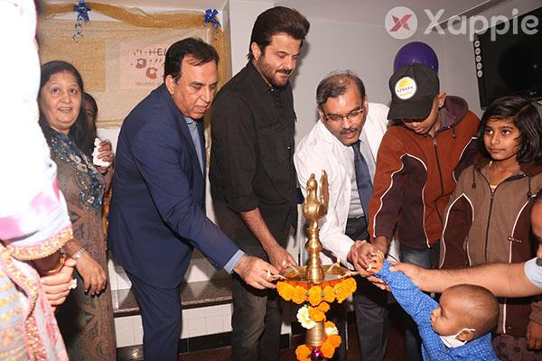 Anil Kapoor inaugurates the pediatric opd by helping hands at the Tata Memorial Hospital in Parel