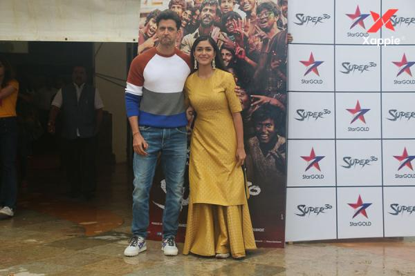Hrithik Roshan & Mrunal Thakur for the promotions of Super 30 at Sun n Sand Juhu
