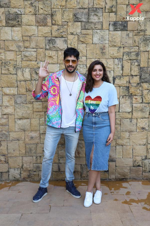 Siddharth Malhotra and Parineeti Chopra promoting their film Jabariya Jodi
