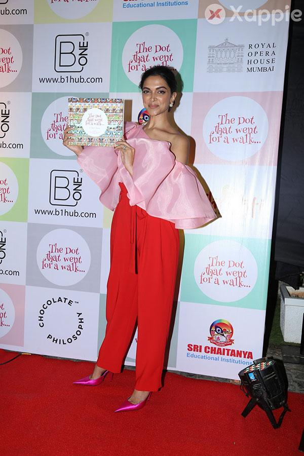 Deepika Padukone at the Cover Launch of the Book 'The Dot That Went For A Walk'