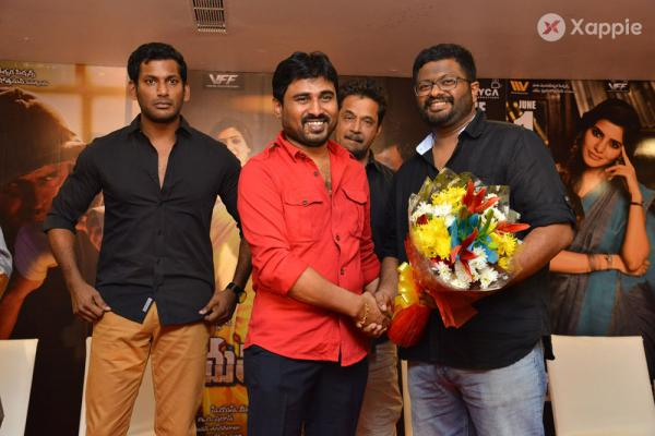 Abhimanyudu Movie Pressmeet Stills
