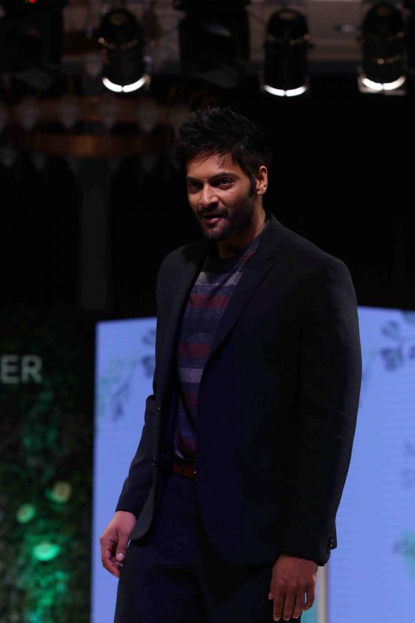 Ali Fazal walk the ramp for launch of Marks & Spencer's Spring Summer 18 collection