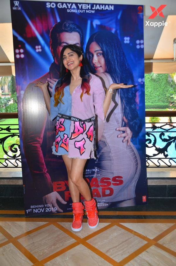 Adah Sharma photos from Bypass Road movie promotions at Raheja Classic in Andheri, Mumbai