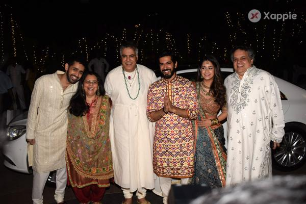 Bollywood Celebrities in a wedding reception at The Club in Mumbai