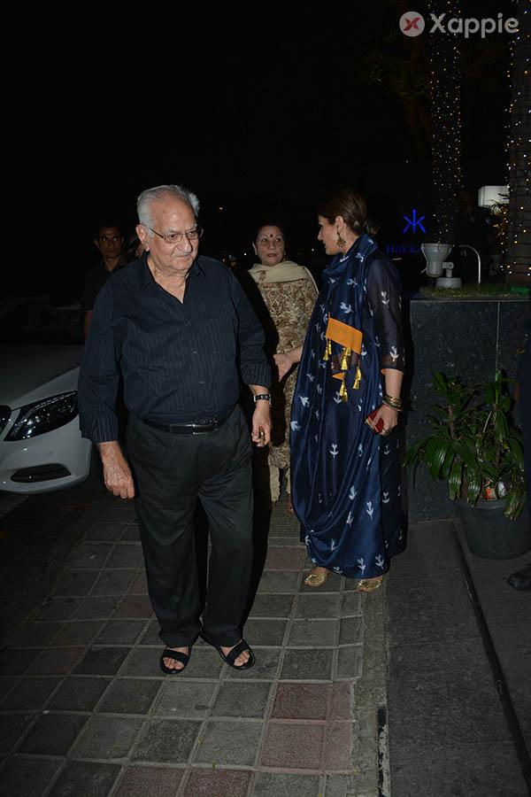 Raveena Tandon with her parents & kids spotted at Hakkasan in Bandra