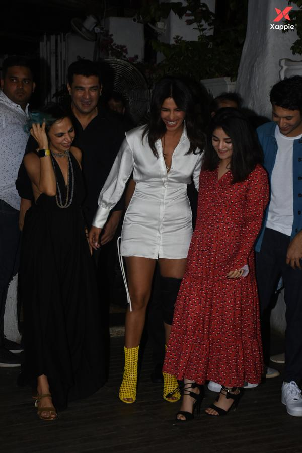 Priyanka Chopra & other at the wrapup party of the film The Sky is Pink