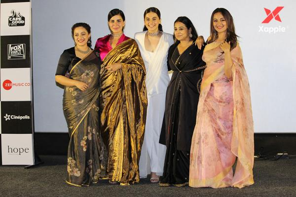 Trailer launch of Film Mission Mangal with star cast - Akshay, Sonakshi, Taapsee, Nithya, Vidya Balan
