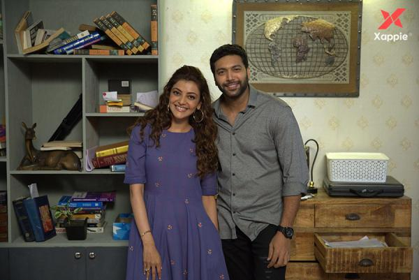 Jayam Ravi and Kajal Aggarwal photos form Comali movie