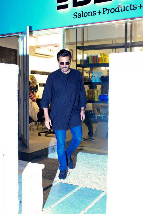 Anil Kapoor Spotted At Salon In Bandra