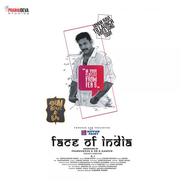 Jayam Ravi to launch Face of India' Video Song Today