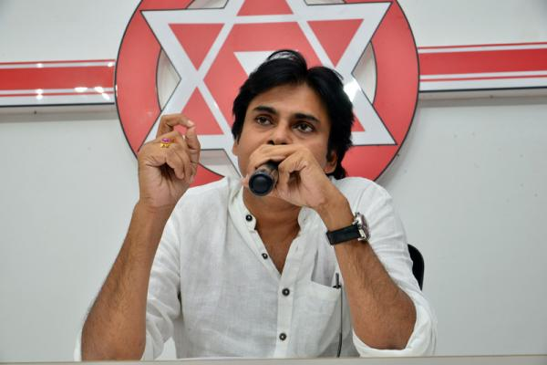 Janasena Party Chief Shri Pawan Kalyan Pressmeet Stills