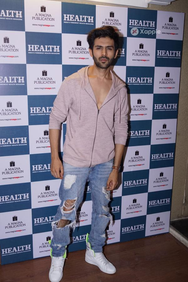 Kartik Aaryan Stills From the cover of Health and Nutrition magazine