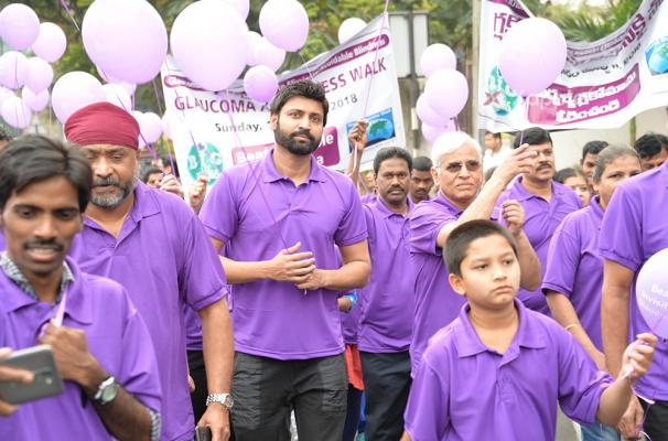 Sumanth joins in the Glaucoma Awareness Walk organised by L V Prasad Eye Institute