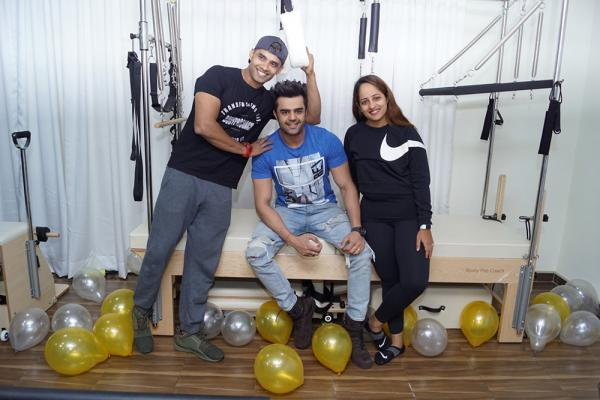 Manish Paul At Inauguration Of Pilates Studio