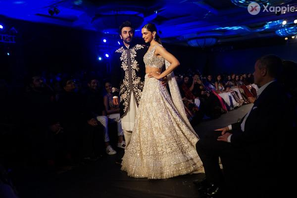 Deepika Padukone and Ranbir Kapoor united to walk the ramp at the 2018 edition of the Mijwan Fashion Show
