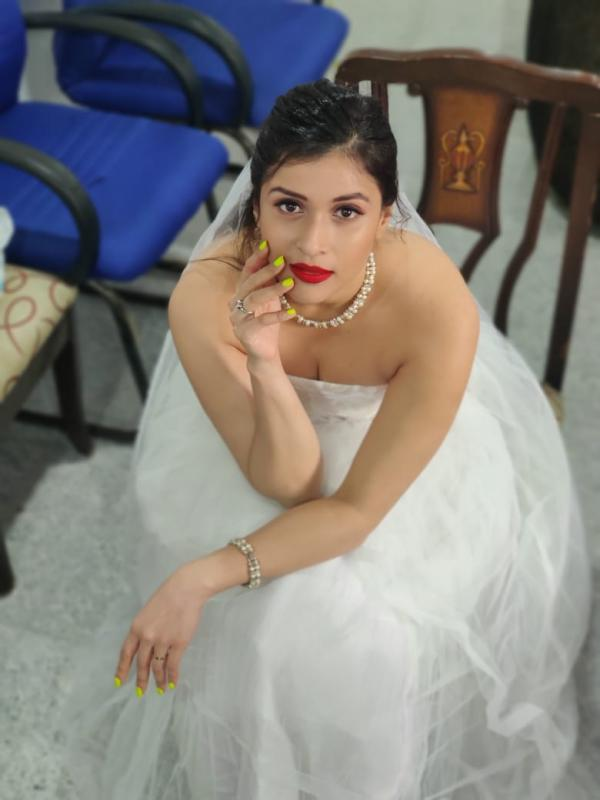 Mannara Chopra looks angelic in her white outfit - Photos