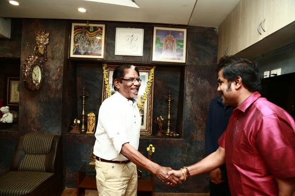 Padai veeran Movie Trailer Launch By Director Bharathiraja Photos
