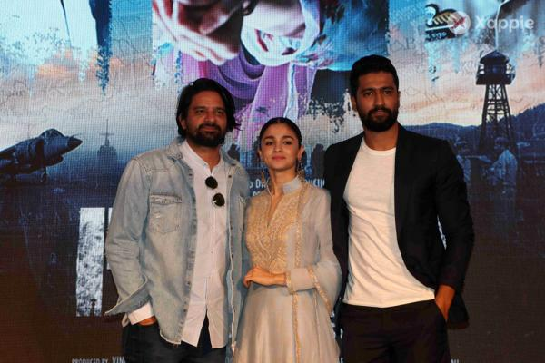 Alia Bhatt and Vicky Kaushal at song launch of Raazi Movie