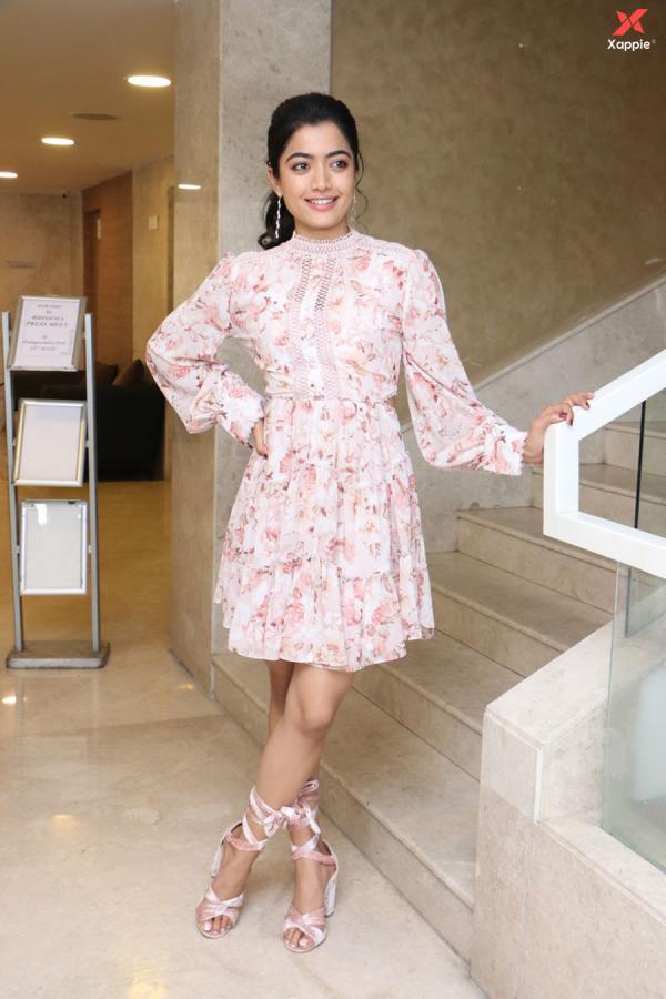 Kannada Beauty Rashmika Mandanna At Bheeshma Movie Successmeet Photos Xappie