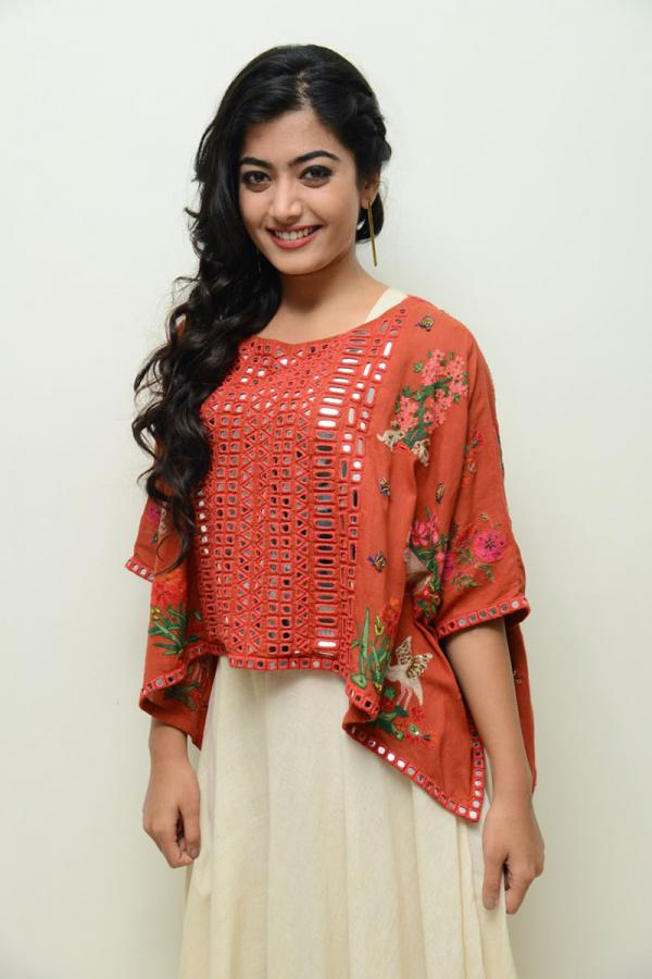 Rashmika Mandanna at Chalo Movie Teaser Launch Function