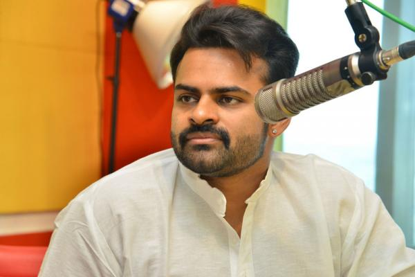 Supreme Hero Sai Dharam Tej at Radio Mirchi