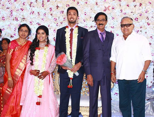 Actor Director Mano Bala Son Harish - Priya Wedding Reception photos