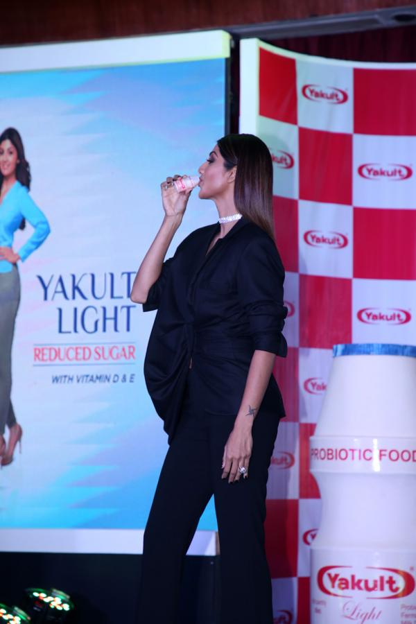 Shilpa Shetty launches new variant of Yakult Stills