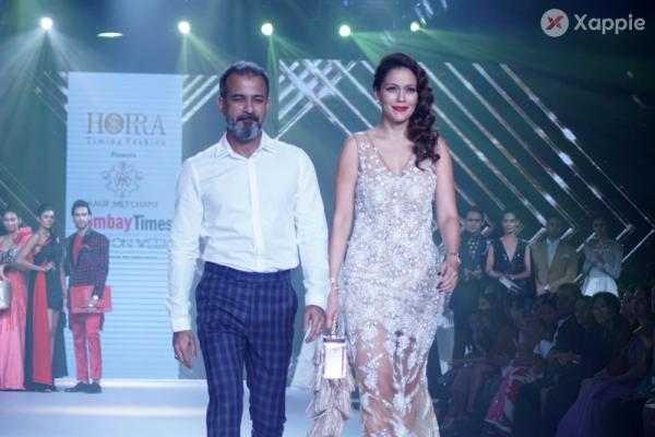 Waluscha de Sousa Showstopper For Designer Asif Merchant (Horra) At Bombay Times Fashion Week