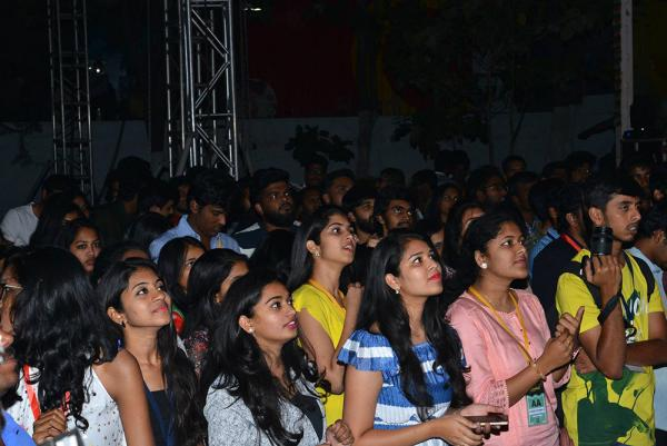 Tholiprema Movie  Team at VNR College