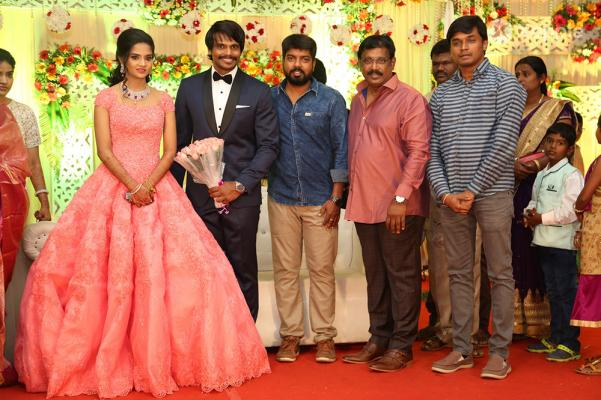 Esakki Kishore And Chandra Roshini Wedding Reception Stills