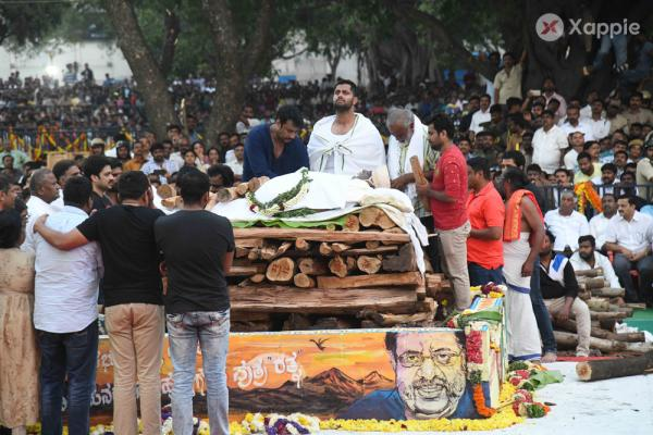 Rebel Star Ambarish Last Rites Photos