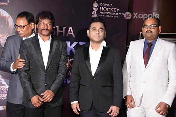 A R Rahman at Odisha Hockey Men's World Cup official anthem launch - Photos